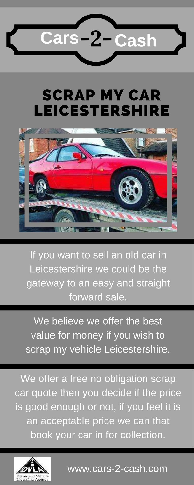 There are many scrap car buyers in Leicestershire cars2