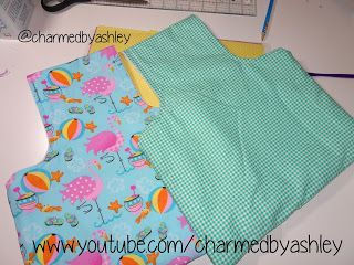 Super easy Travel project Bag for crochet and knitters   - Sewing tutorial