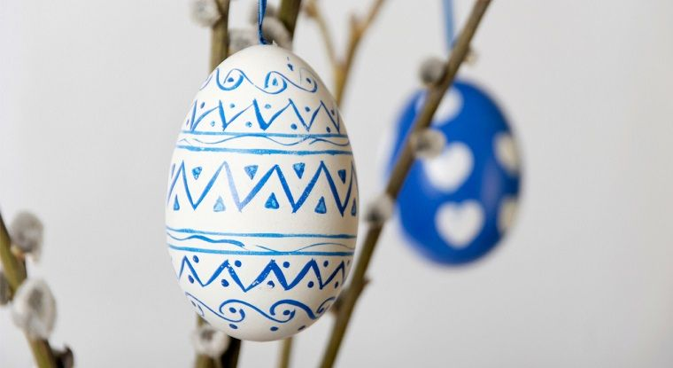 Geometria Bambini ~ Lavoretti pasqua uovo di colore bianco e disegni forme