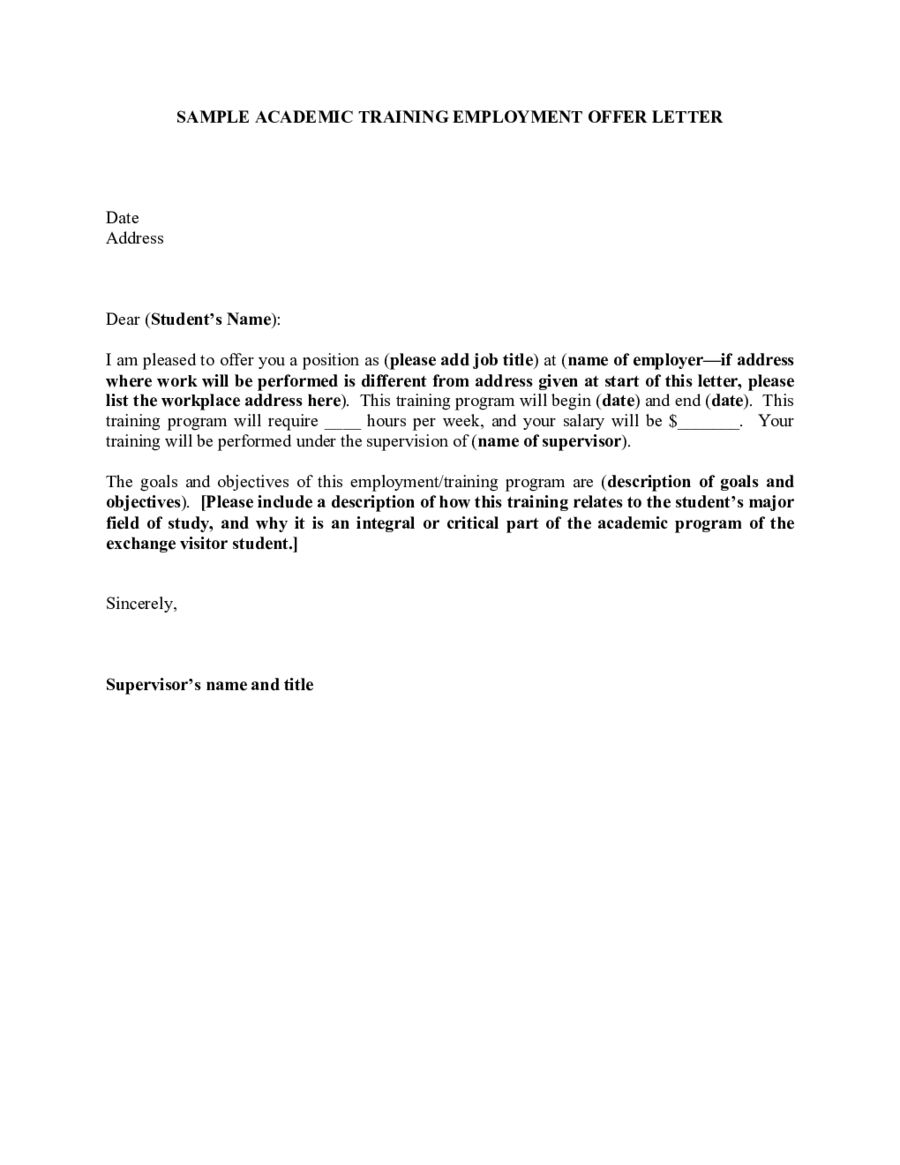 The Appointment Letter Sample Templates Template Drug Prevention