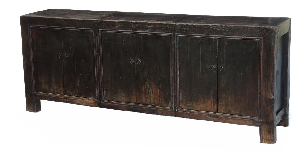 Antique black sideboard or media cabinet LD014 - Antique Black Sideboard Or Media Cabinet LD014 All About