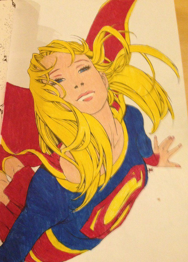 Pin by Grace Fonseca on Coloring DC Supergirl Adult Coloring Book - copy coloring pages games superhero