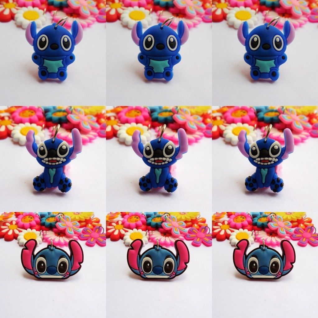 Lovely stitch pendant keychain necklace hang straps kids gift dz
