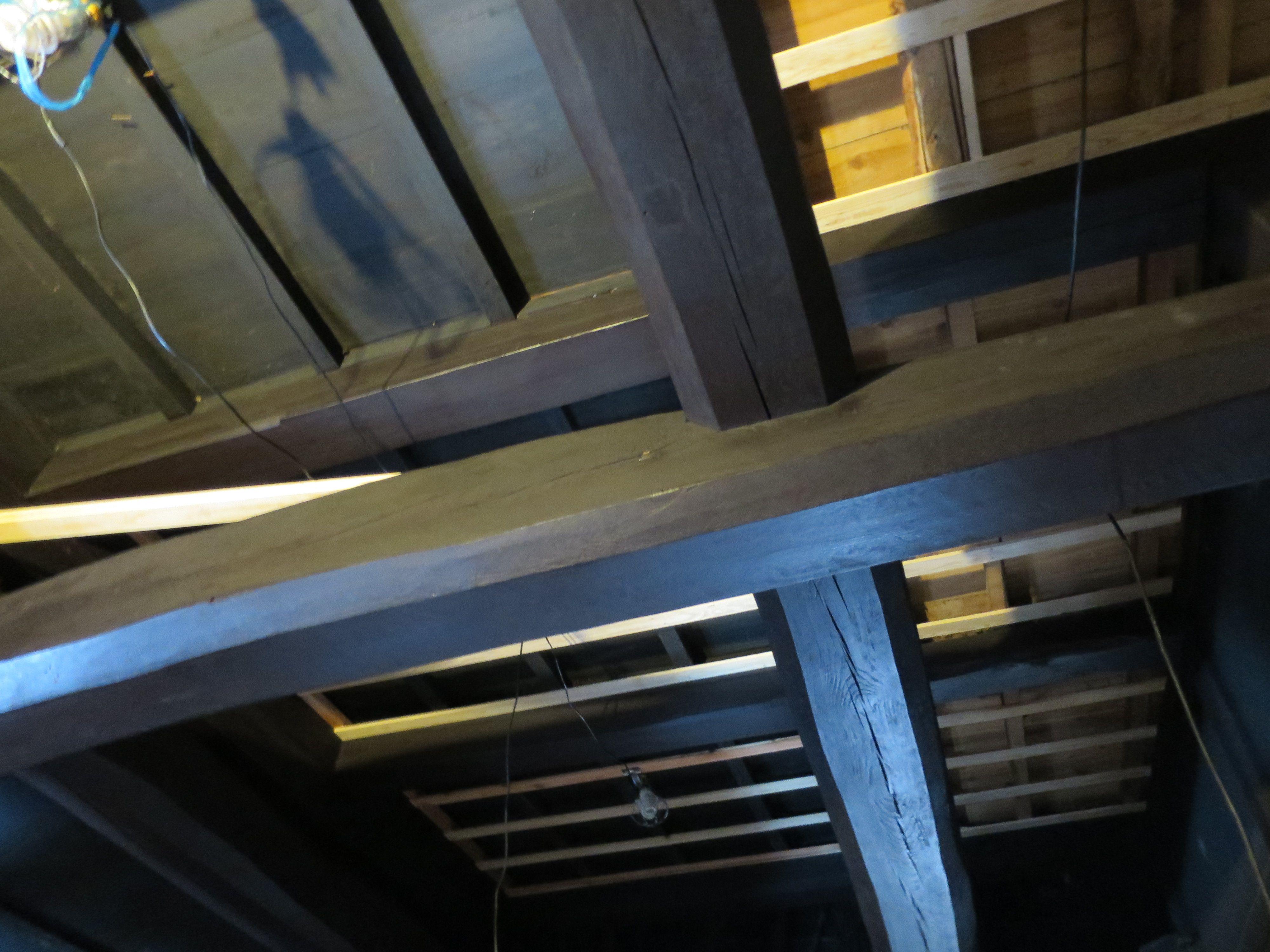 天井 下地材の取り付け作業中 リフォーム 古民家 古民家 リフォーム