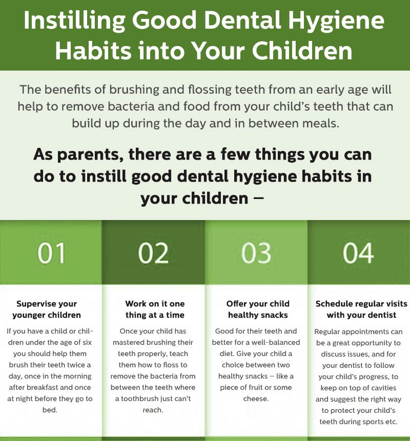 As parents, there are a few things you can do it install good dental hygiene habits in your children. Pay a look at this info-graphic and know more details about hygiene habits.