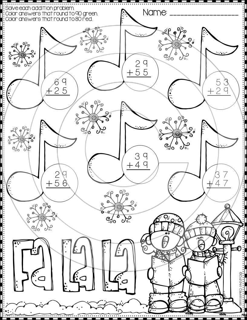 Christmas 2 Digit Addition With Regrouping Color By Code Printables Christmas Math Worksheets Christmas Math Christmas Worksheets [ 1056 x 816 Pixel ]