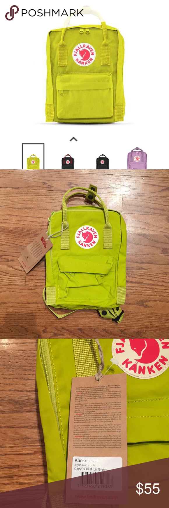 Fjallraven Kanken Mini Backpack Nwt In 2018 My Posh Picks Classic Birch Green Color Sku F23561 Outer