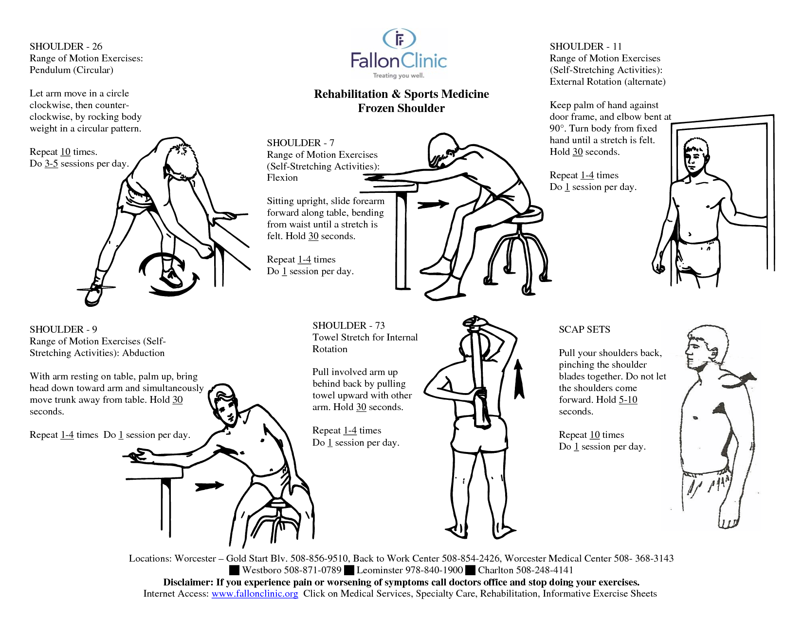 Shoulder Bursitis Physical Therapy Exercises