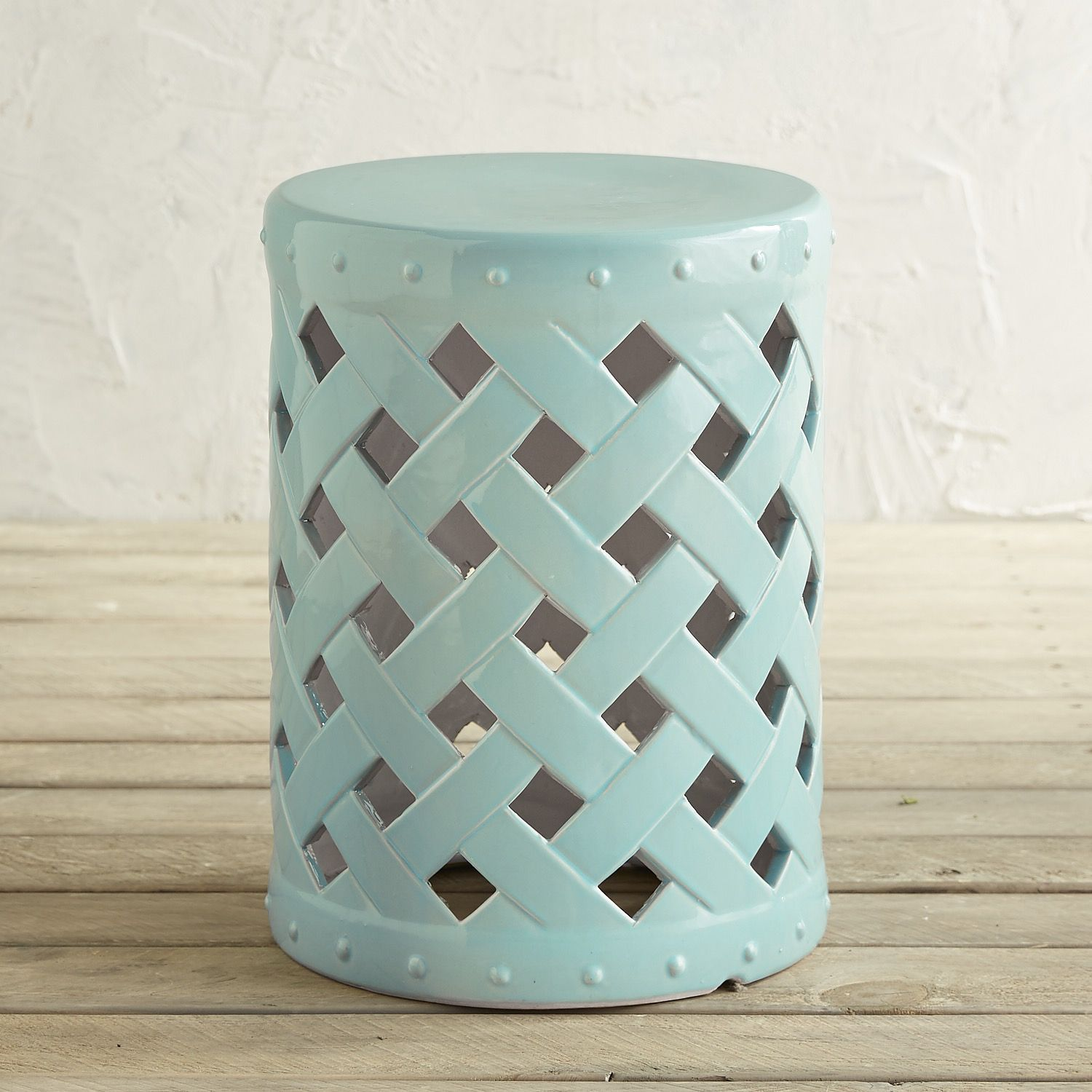 white garden ebay stool outdoor small itm ceramic stools asian and blue
