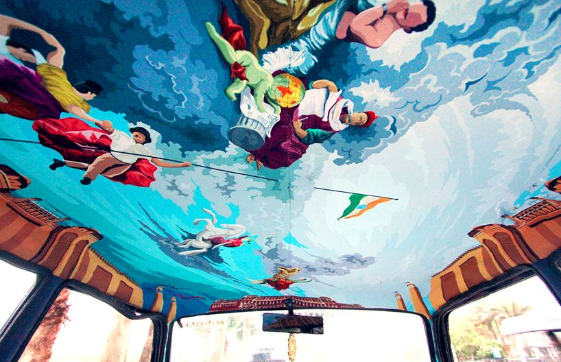 India Based Artists Beautify Mumbai Cabs For The Taxi Fabric Project