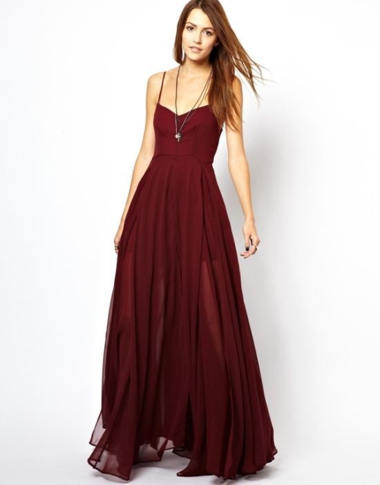 3b14723bb46 Religion Olsen Maxi Dress ~~~ the dark red makes it look more dressy and I  like that