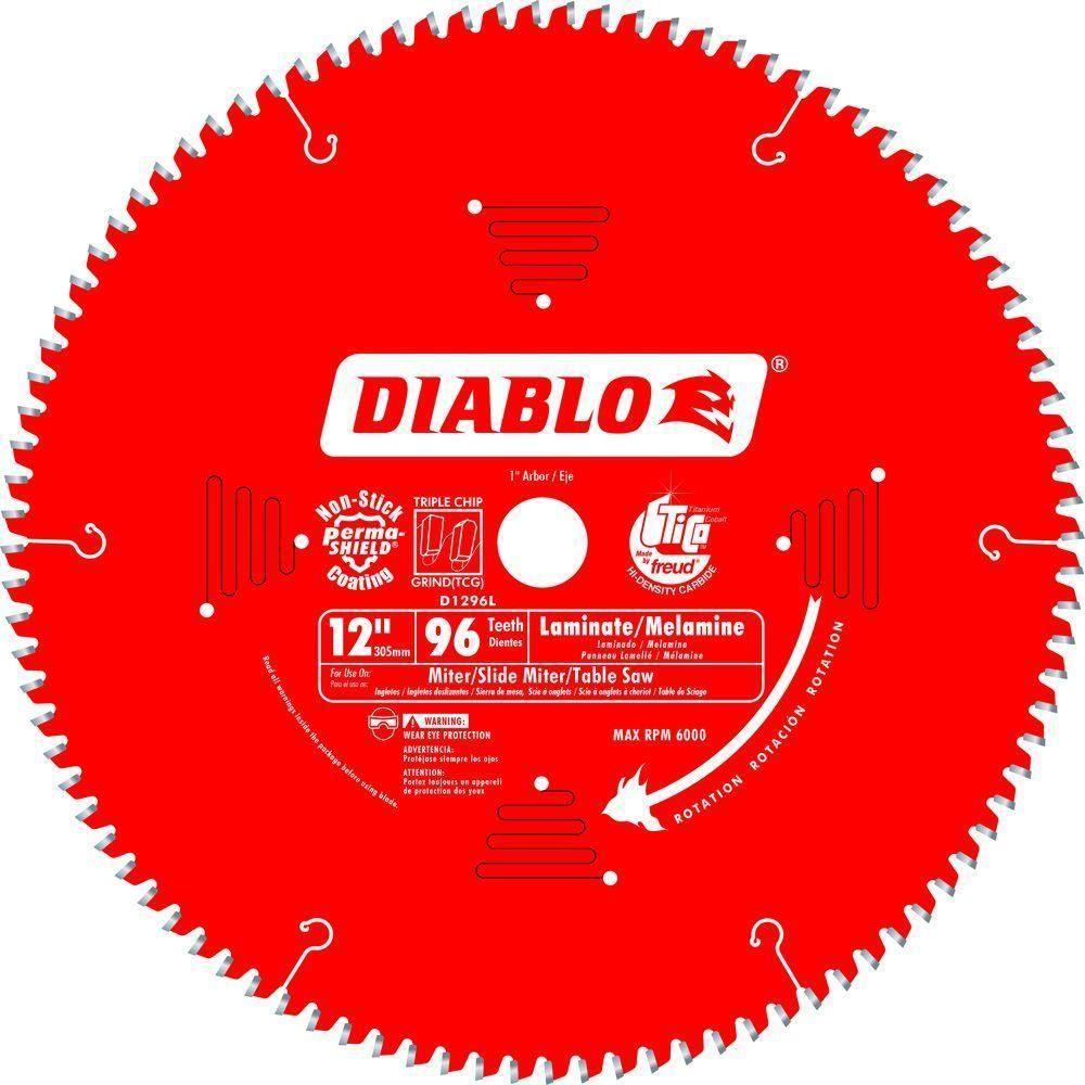 Diablo 12 In X 96 Tooth Laminate Non Ferrous Metal Saw Blade Model D1296l Circular Saw Blades Saw Blade Chop Saw