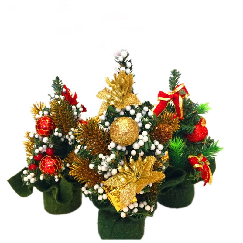 New Hot 20CM Mini Ornaments Holiday Party Home Table Artificial