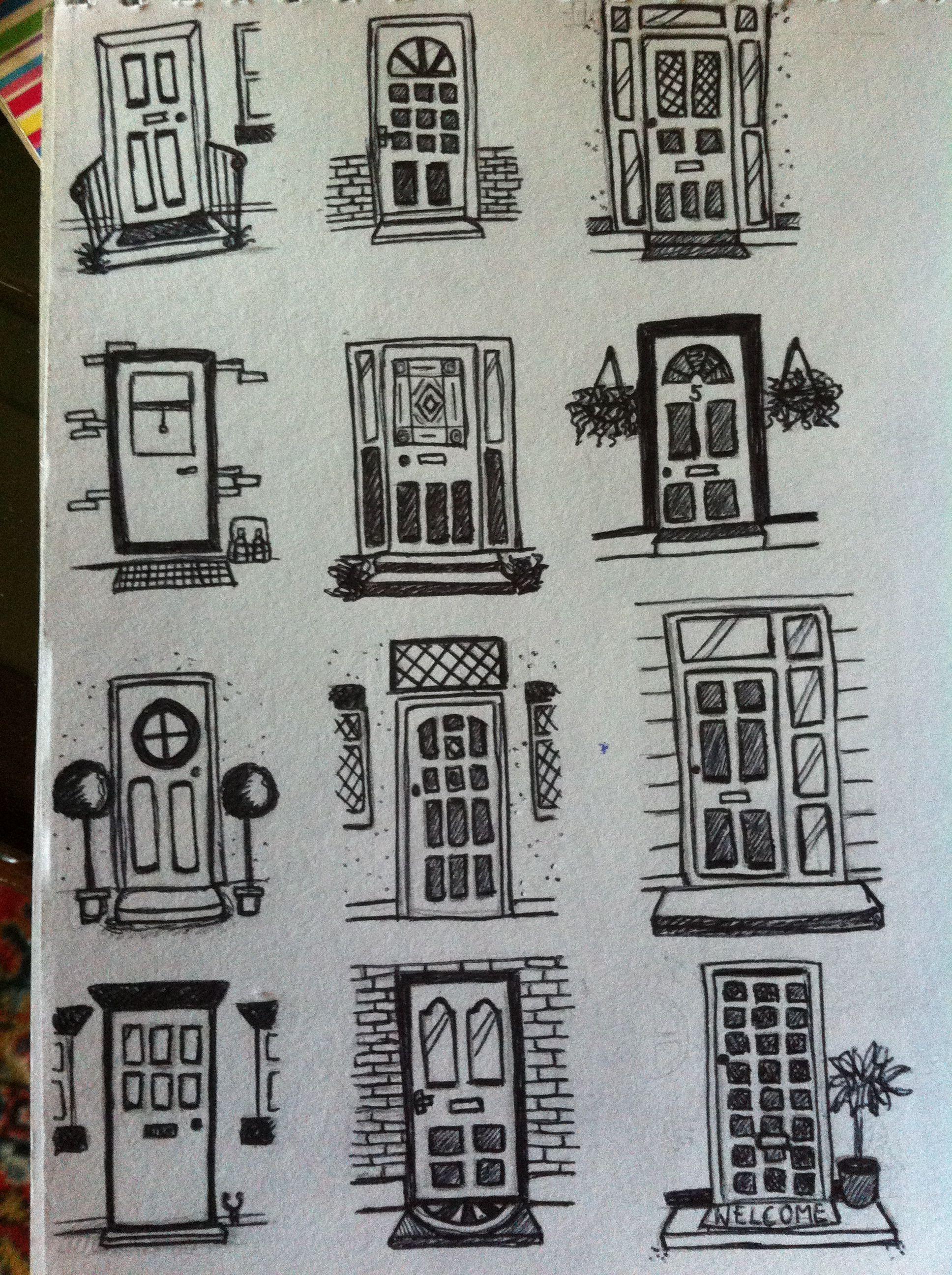 Front door doodles | Door drawings | Pinterest | Front ...