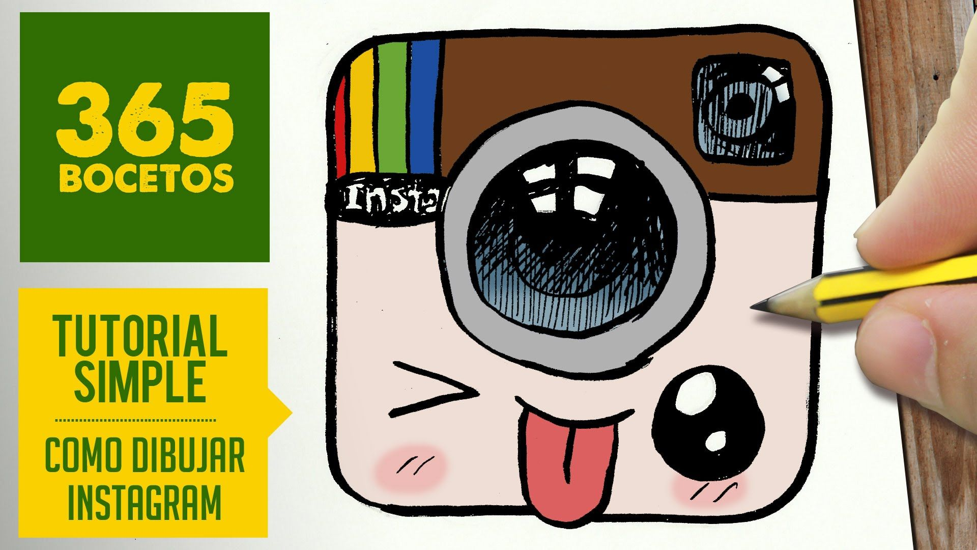 Como Dibujar Logo Instagram Kawaii Paso A Paso Dibujos Kawaii