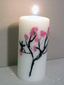 Tcnica de batik para decorar velas Manualidades Fciles