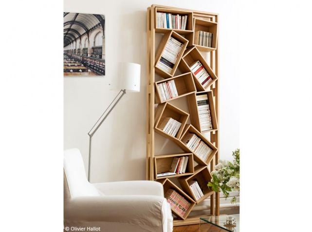 Biblioth ques design nos 11 solutions pr f r es bois mobilier de salon mobilier et d co salon for Deco mobilier design