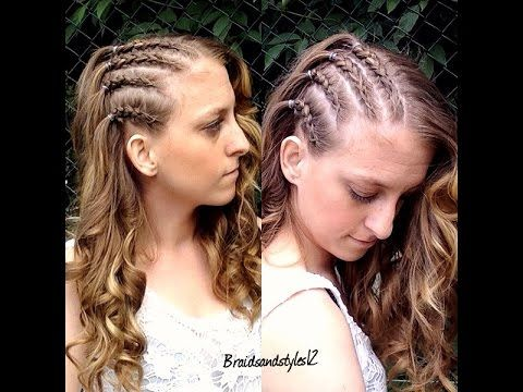How To Do Cornrows On Your Own Hair Would Be Cute With 3 Small