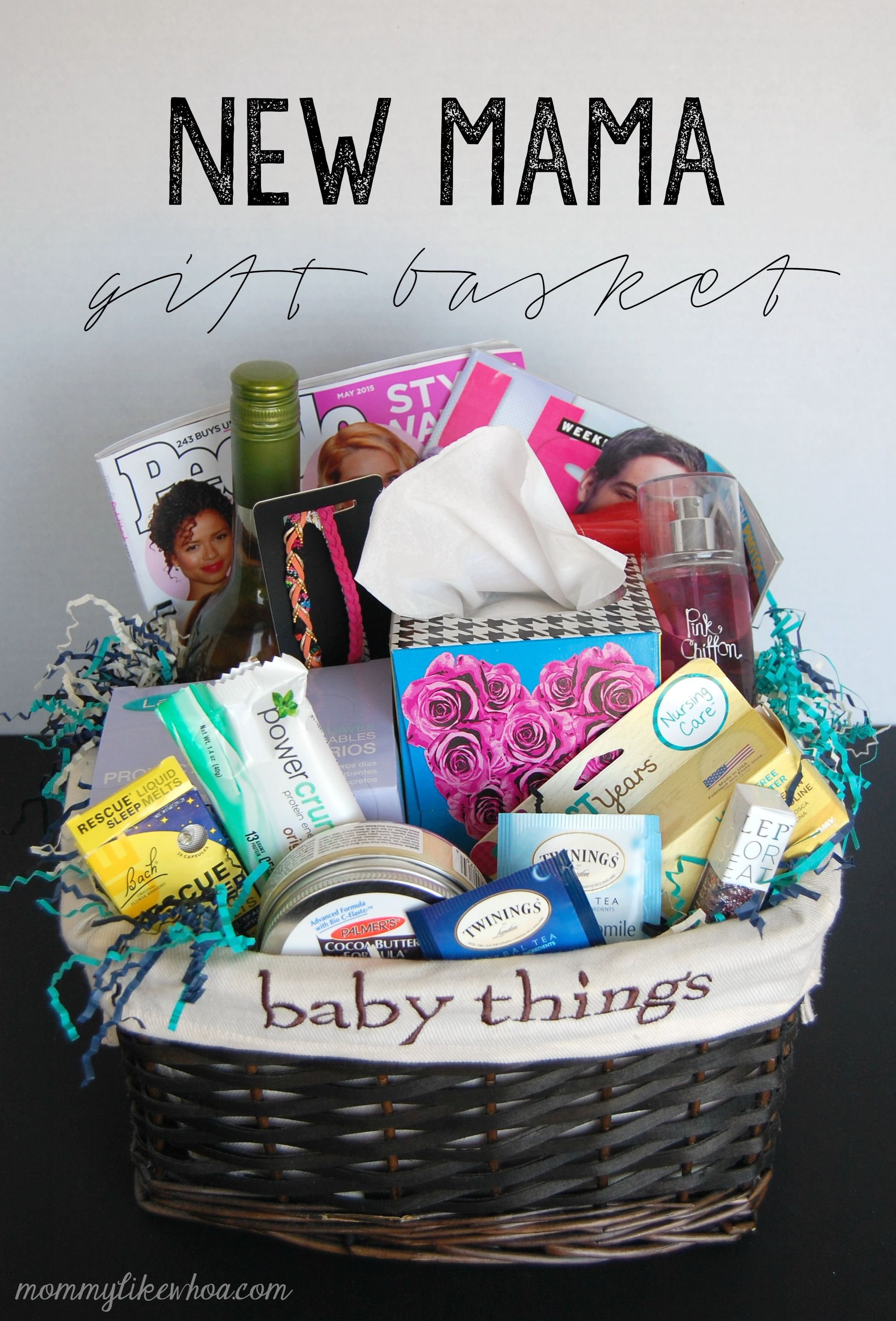 New Mama Gift Basket Themed Gift Baskets Homemade Gift Baskets