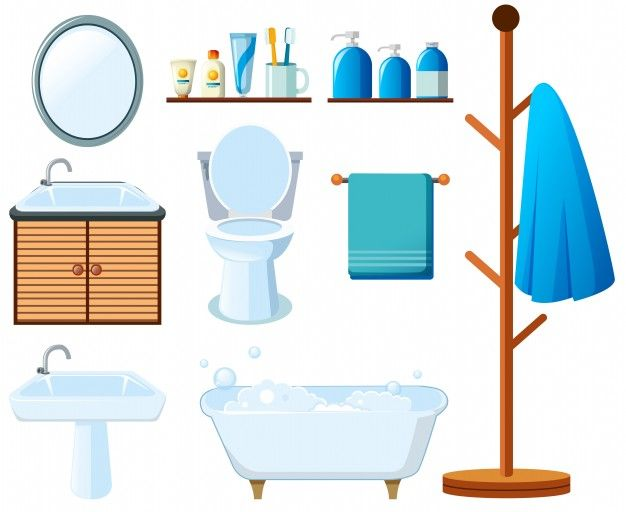 Download Bathroom Equipments On White Background For Free Moveis