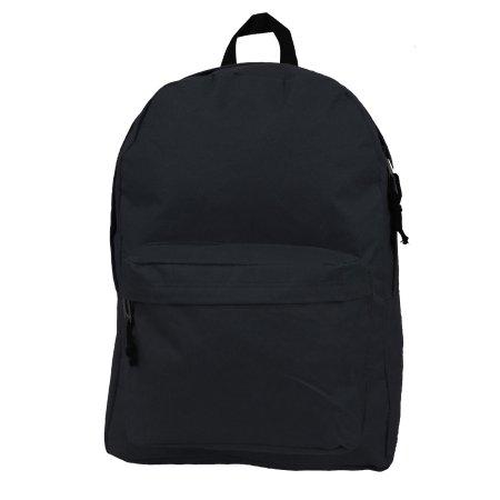 7c5d2d158af6 Case Lot 30pc Classic 18in Basic Backpack Simple School Book Bag Padded  Back Side Pocket