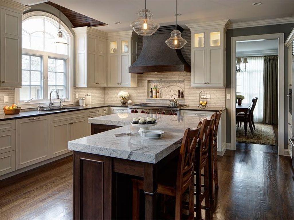 40 Fabulous L Shaped Kitchen Designs With Island   Kitchen   Pinterest