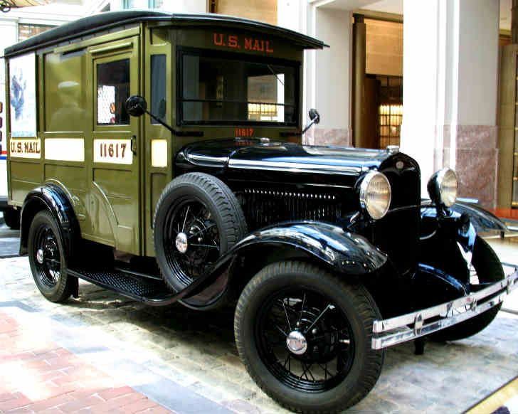 The Ford Model A Mail Truck Was Used By Us Postal Service Beginning In 1928 And Continuing Through 1930s 1940s