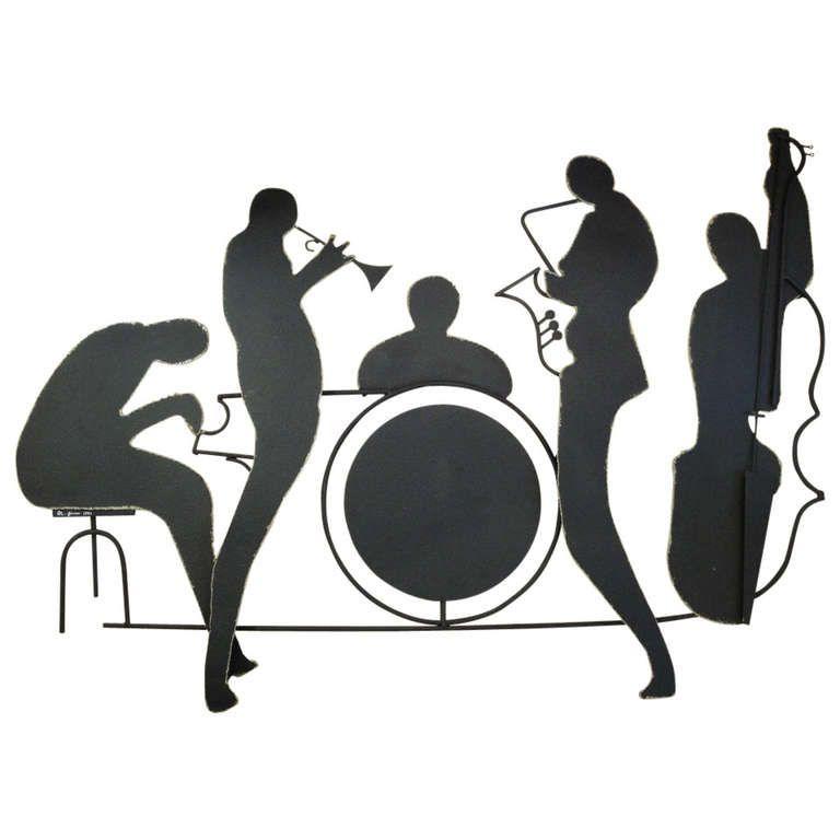 Signed Jazz Band Metal Wall Sculpture By Curtis Jere 1 Jazz Art Musical Art Art