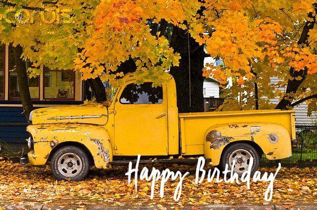 Old Truck Happy Birthday Wishes