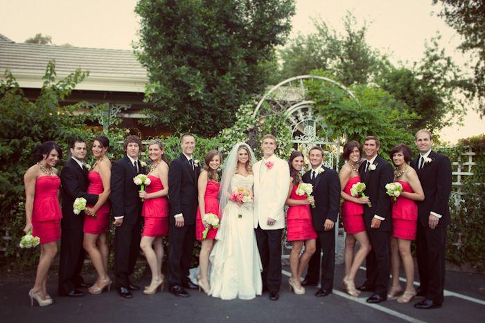 Definitely, definitely like the white jacket for the groom.