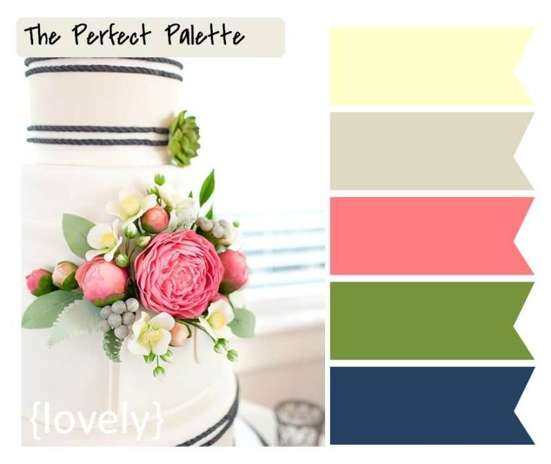 navy, pink and green...love