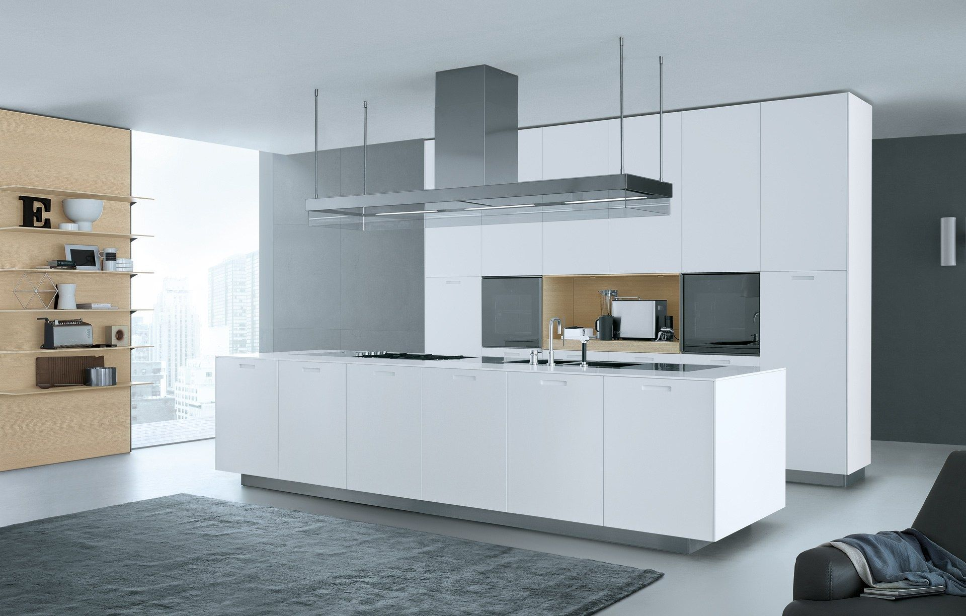 Lacquered linear wooden kitchen KYTON - Varenna by Poliform | keuken ...