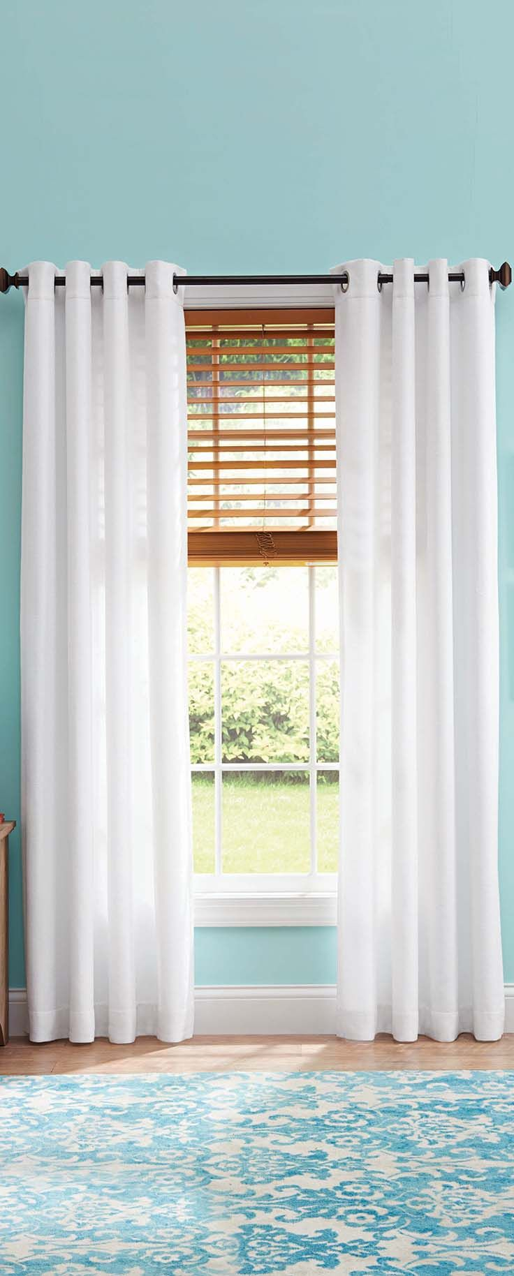 Shop For Better Homes And Gardens Curtains U0026 Window Treatments In Decor.  Buy Products Such As Better Homes And Gardens Semi Sheer Grommet Curtain  Panel, ...