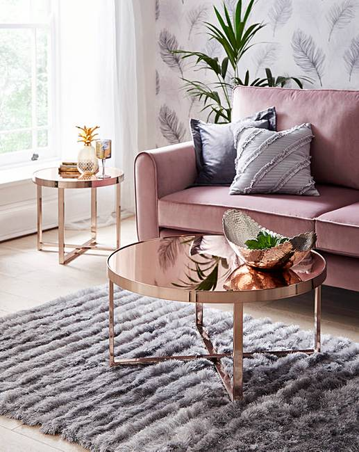 Diy Mirrored Coffee Table For Less Than 200 Diamantes Tacones Home Interior Design Living Room Home Decor
