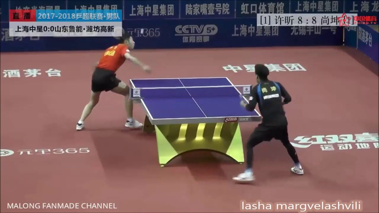 Shang Kun Vs Xu Xin China Super League 2018 Table Tennis