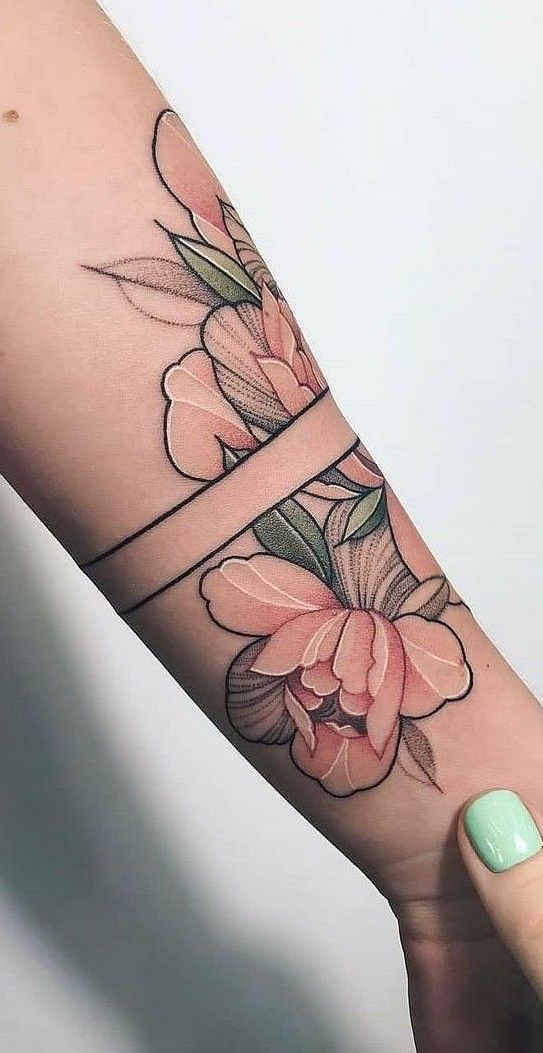 37 Beautiful floral tattoo Suitable for women Tattoo love #flowertattoos – flower tattoos designs #flowertattoos – diy tattoo images