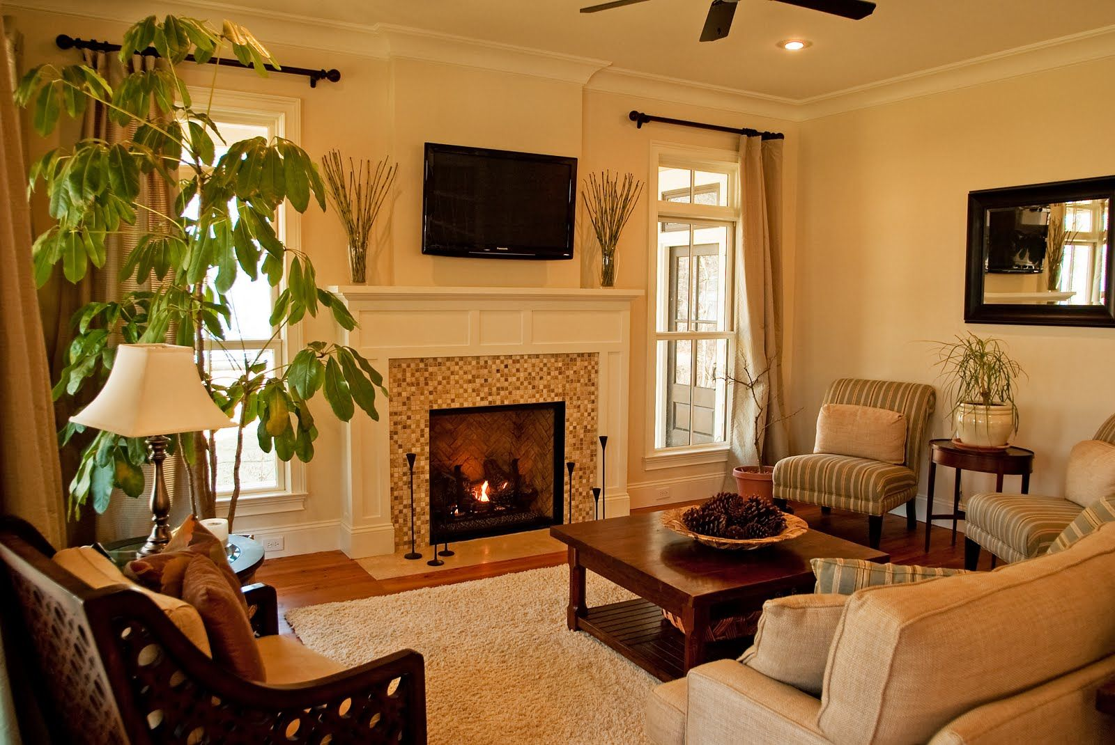 Decor Ideas For Living Room With Fireplace - Lavita Home