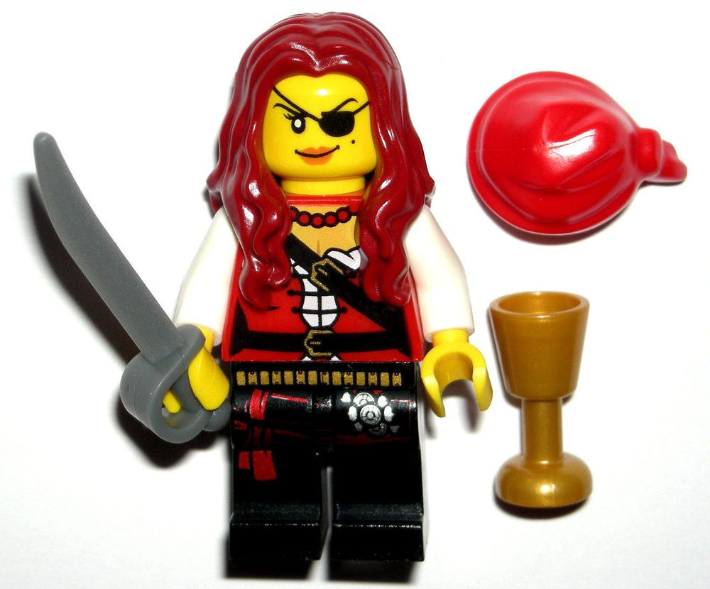 better sneakers for cheap professional sale LEGO PIRATE GIRL MINIFIGURE Ship Wench Red Hair/Patch/Sword ...
