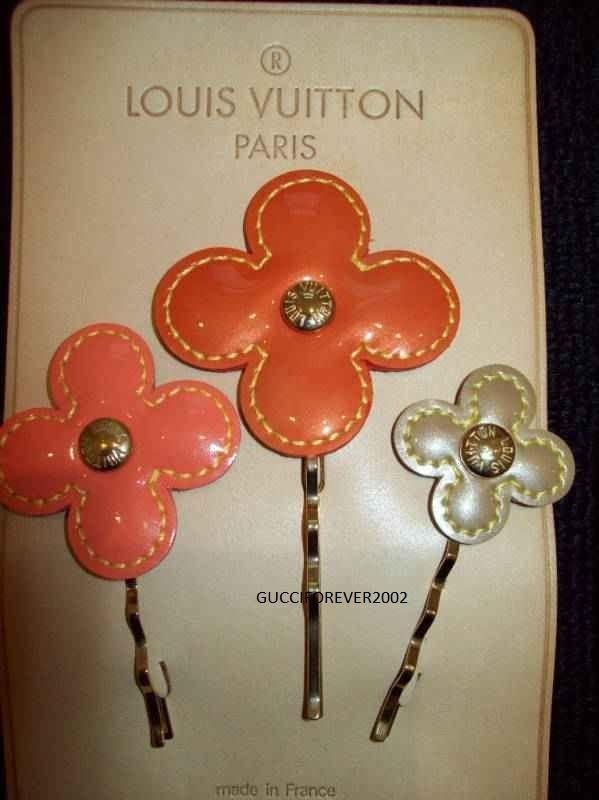 Authentic Louis Vuitton Fleur Hairpins 3pc Flower Floral Hair Pins Bobby Pins   | eBay