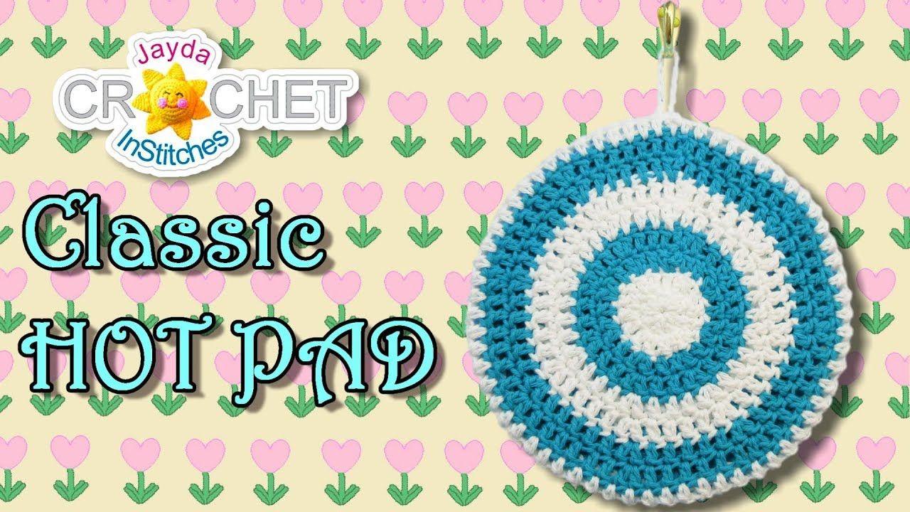Kitchen Hot Pad Pot Holder in Vintage-Style - Crochet Pattern ...
