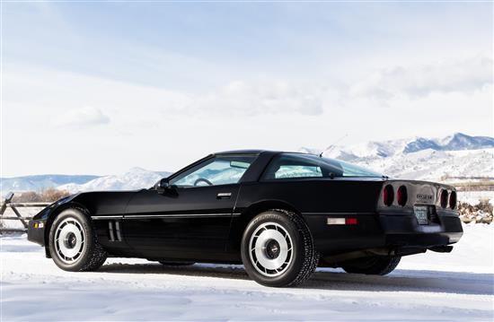 A 1985 Black Chevrolet Corvette The Caribou Ranch And Studio Memorabilia Auction Denver Colorado Chevrolet Corvette Corvette Chevrolet Corvette C4