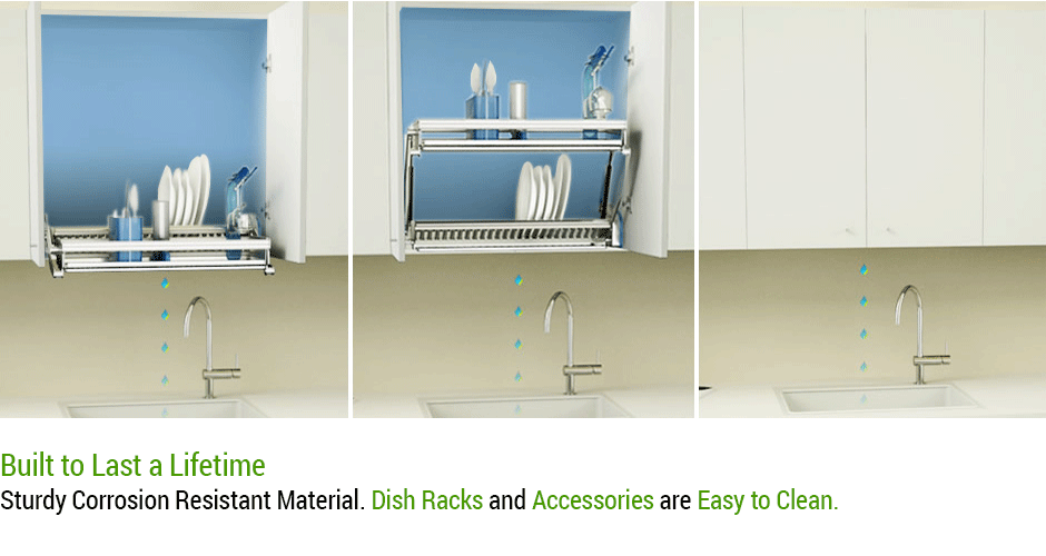 Cabinet Dish Rack / Drainer System