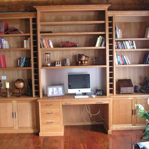 Contemporary Wall Unit Office by James H.  Little