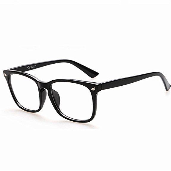 b35e3bdca2 Cyxus Blue Light Filter Computer Glasses for Blocking UV Headache  Anti Eye  Fatigue  Transparent Lens Black Frame