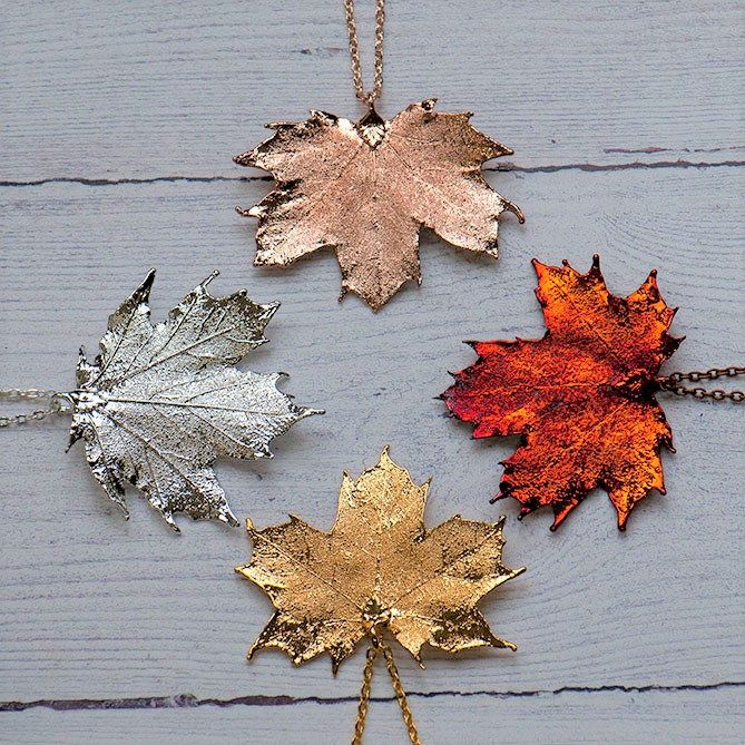 Canadian Maple Leaf Necklace, Autumn Leaf Jewelry,