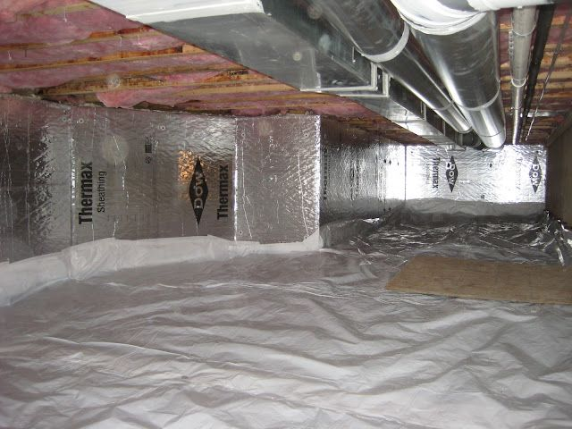 Tu Tuf Vapor Barrier Sealed To Wall Insulation