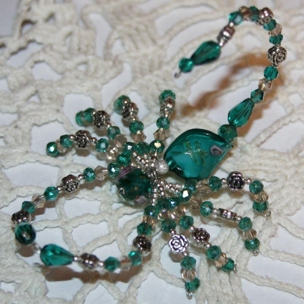 BEAUTIFUL~Decorative Swarovski & Austrian Crystal Beaded Scorpion ...