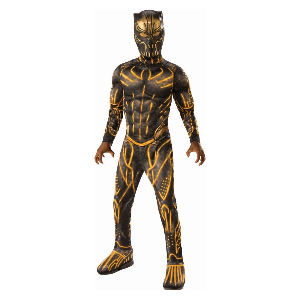 Marvel Black Panther Deluxe Muscle Chest Men/'s Adult Costume /& Mask STD-XL New