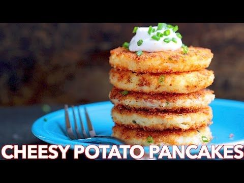 Breakfast: Cheesy Potato Pancakes Recipe - Natasha's Kitchen - YouTube