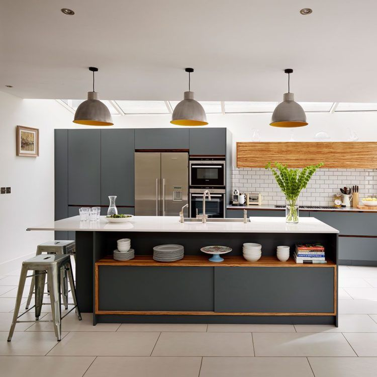 17 Stunning Grey Kitchen Cabinets | Grey kitchen designs, Kitchen ...